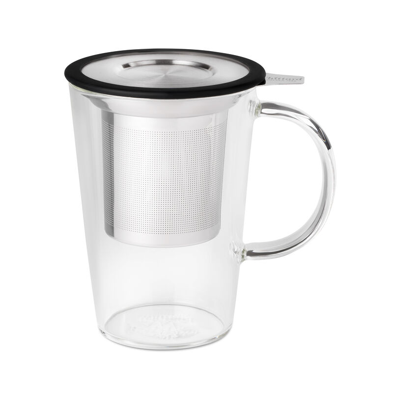 Black Glass Pao Infuser Mug
