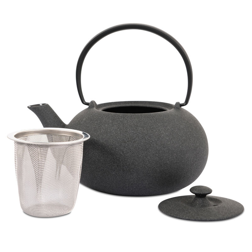 Japanese Tetsubin Small Grey Cast Iron Teapot