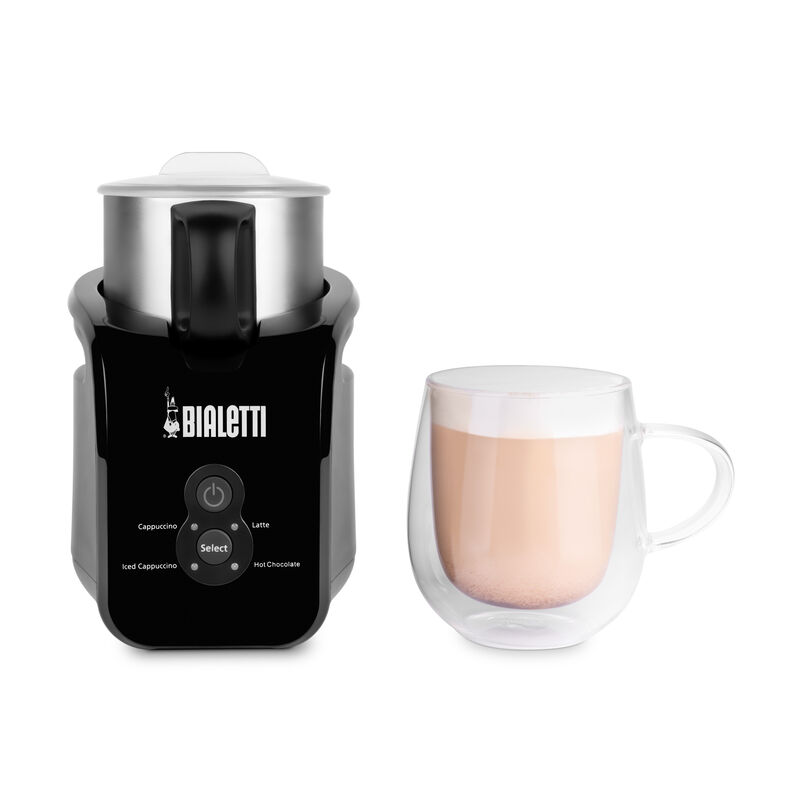 Bialetti Milk Frother with made up latte