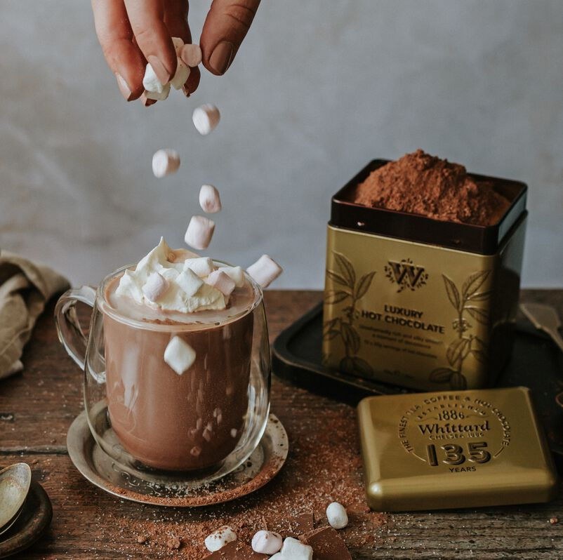 Luxury Hot Chocolate made from 135 year tin