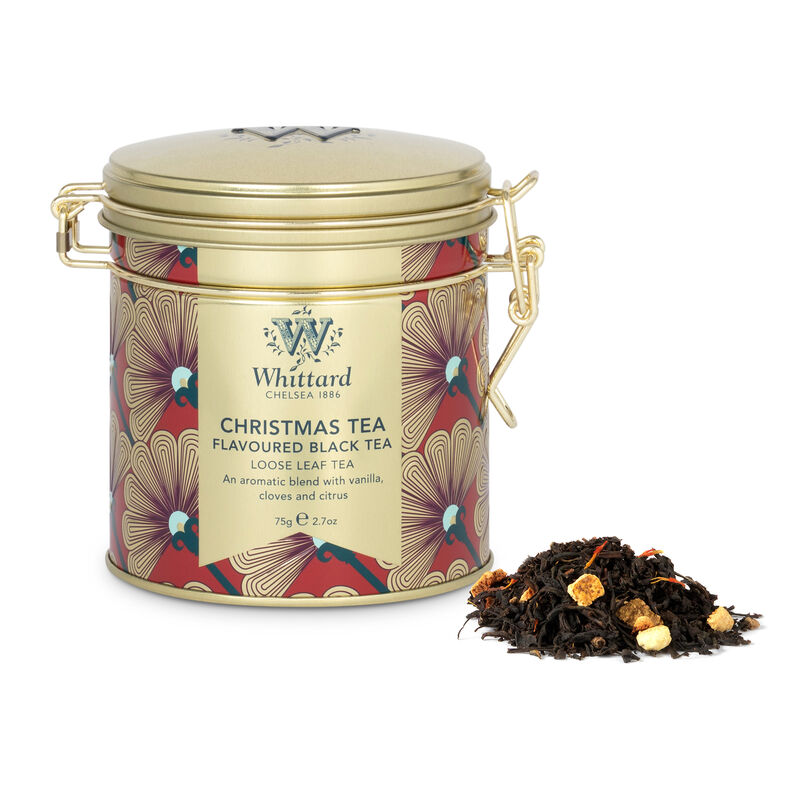 Our Christmas Tea is perfect for the festive season, presented in a beautiful art deco inspired clip top tin, this caddy will keep your tea fresh from the first to the last cup.