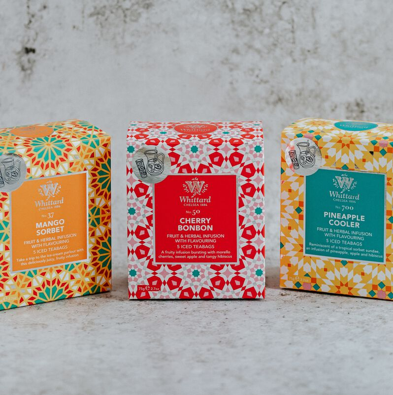 The three Iced Teabags from the summer collection