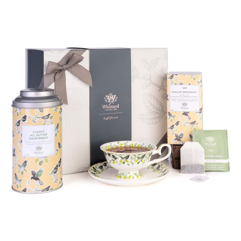 Tea Discoveries Tea Gift Set with Tea Cup & Saucer, Biscuits and Teabags