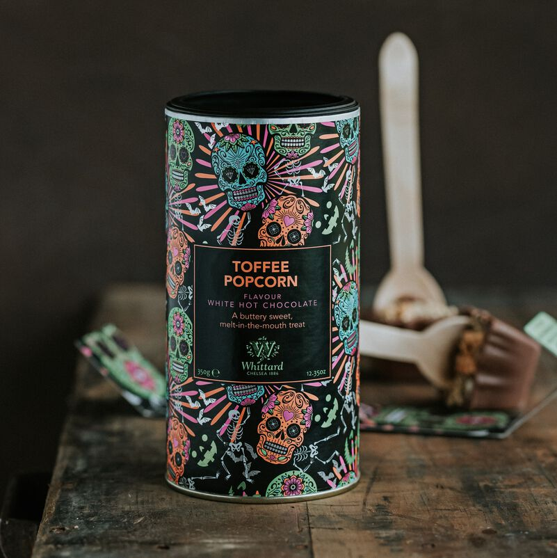 Limited Edition Toffee Popcorn Flavour White Hot Chocolate