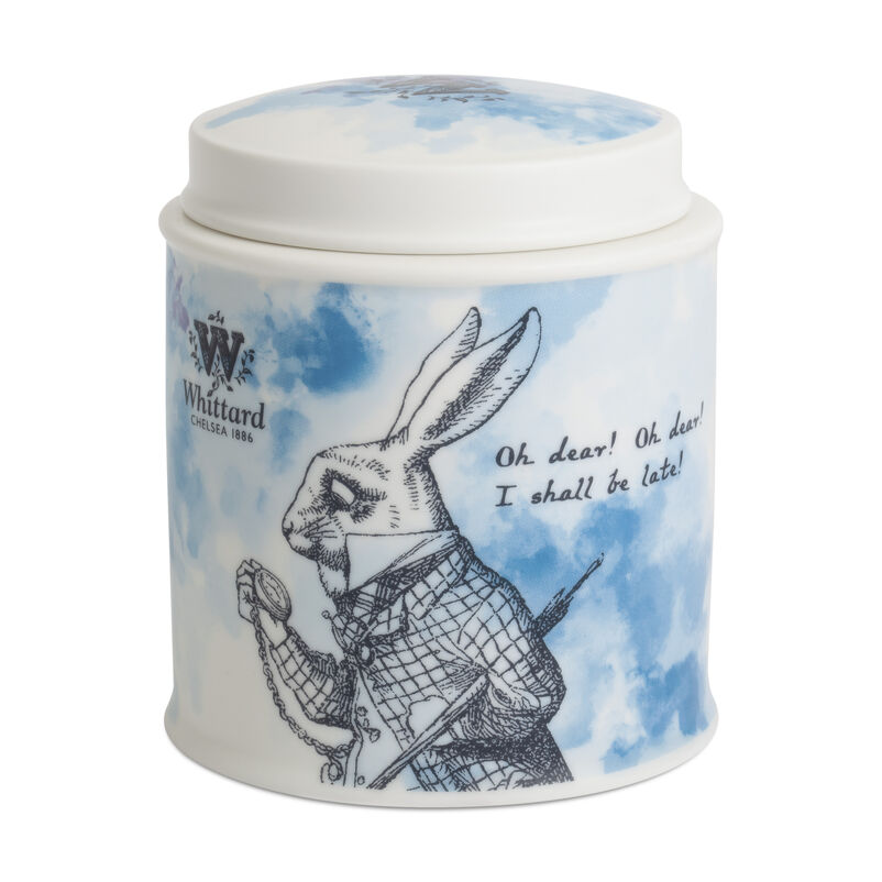 Alice in Wonderland Fine bone China White Rabbit Tea Caddy