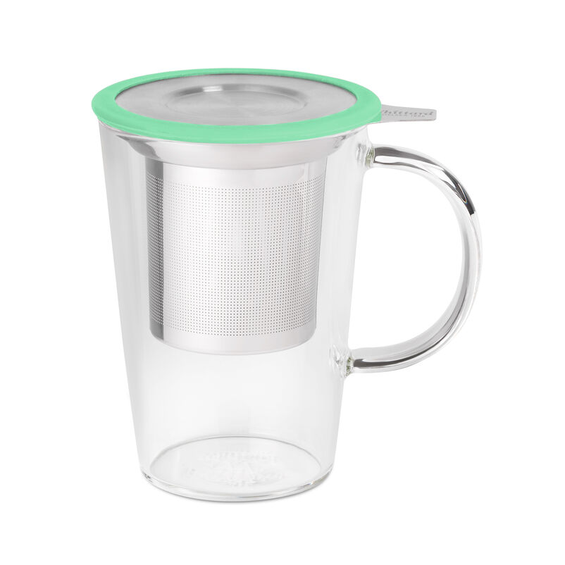 Mint Glass Pao Infuser Mug