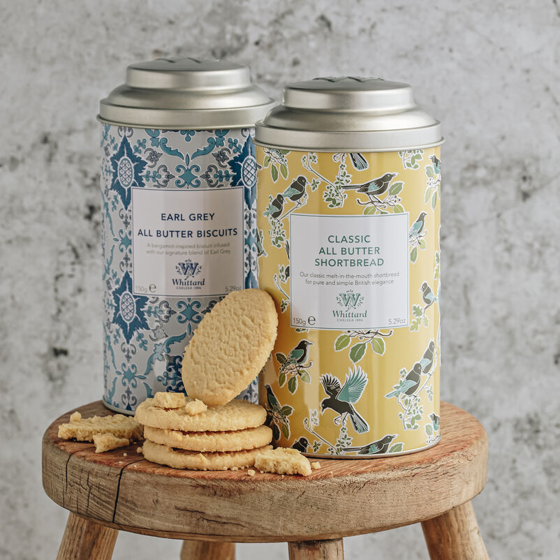 All Butter Shortbread and Earl Grey Biscuit Tin