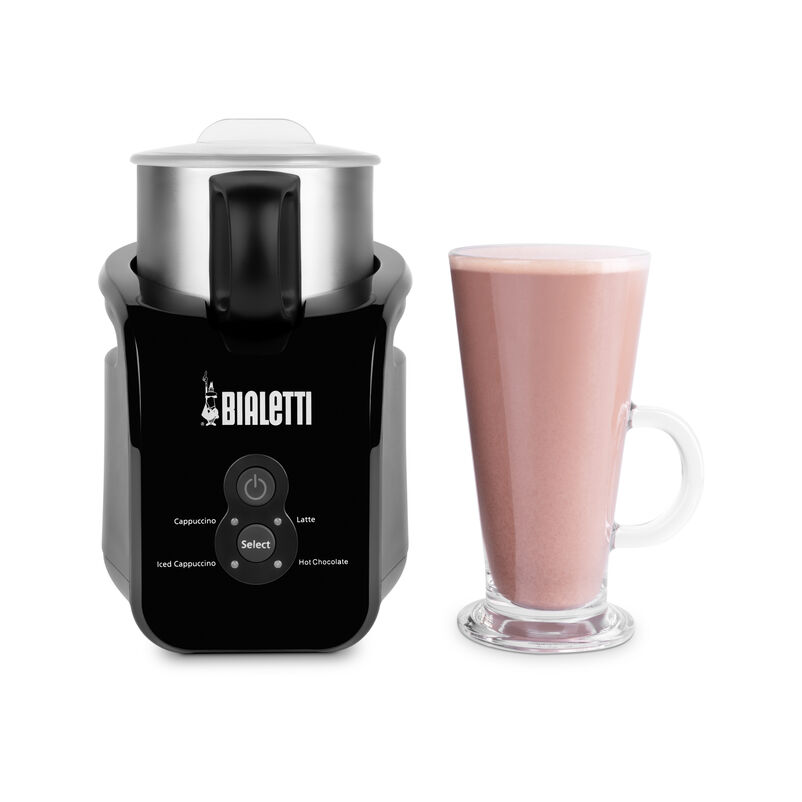 Bialetti Electric Milk Frother with made up hot chocolate