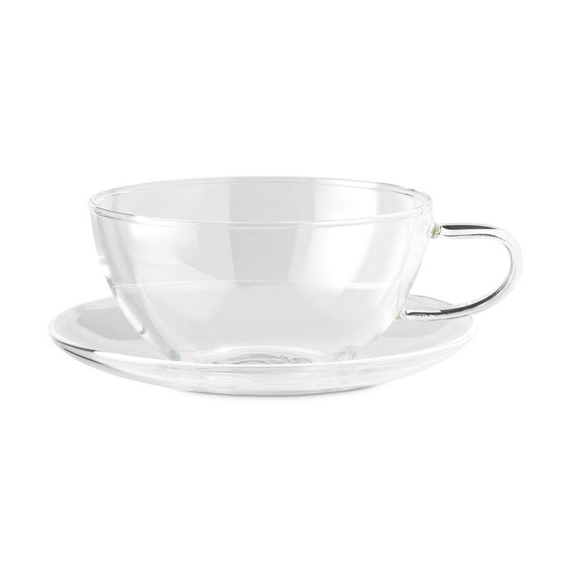Tribeca Glass Cups & Saucers