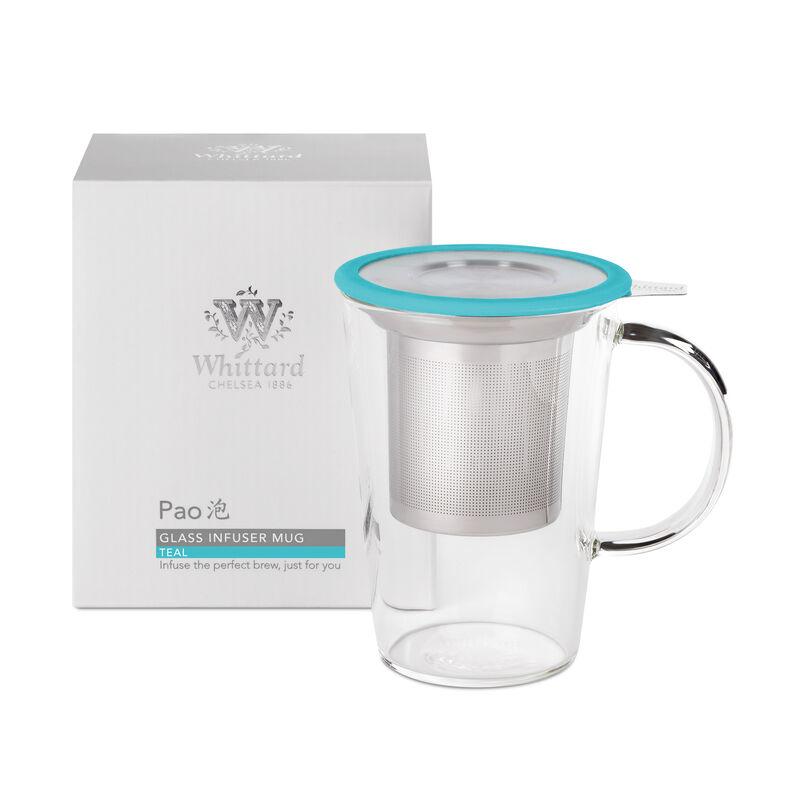 Teal Glass Pao Infuser Mug