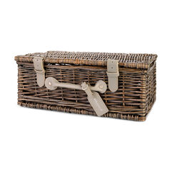 "14"" Wicker hamper with tag"