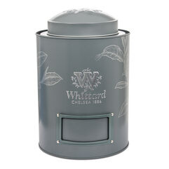 Large, green tea caddy
