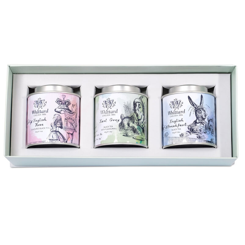 Alice in Wonderland Mini Caddy Gift Box inside the box