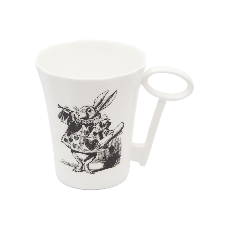 Alice in Wonderland Rabbit Mug with Key Handle