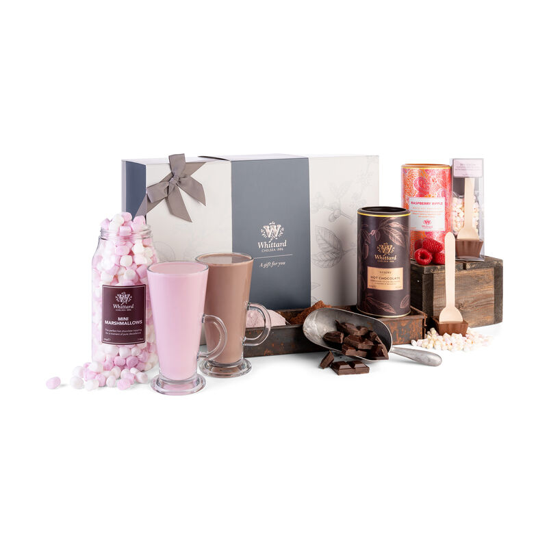 The Made for Each Other Gift Box Customised with Luxury Hot Chocolate and Raspberry Ripple Hot Chocolate